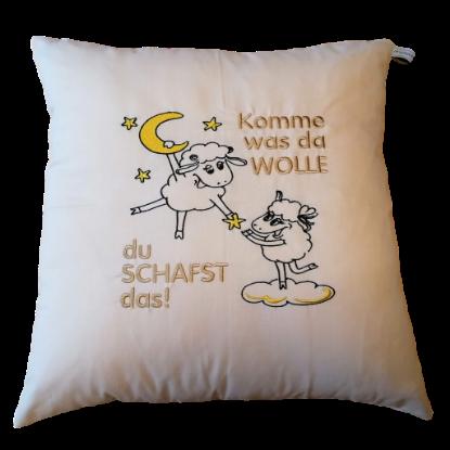 """Bild von Kuschelkissen """"du SCHAFST das"""""""