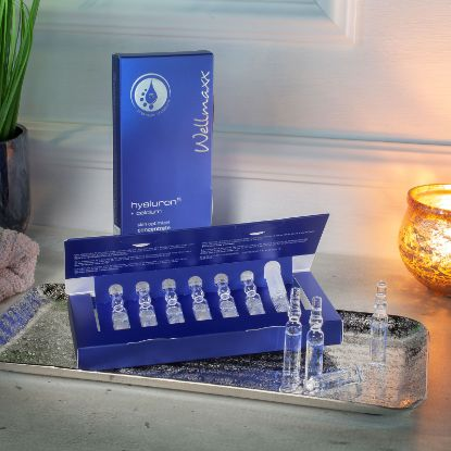 Bild von wellmaxx hyaluron⁵ Ampullen Set calcium skin optimizer concentrate