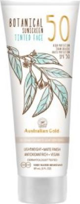 Bild von Australian Gold BOTANICAL Sunscreen SPF 50 Tinted Face light skin tones