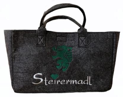 """Bild von Filz-Tasche """"Steirermadl"""""""