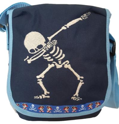 """Bild von Kindergartentasche """"Skelett"""" 💥 PERSONALISIERBAR"""